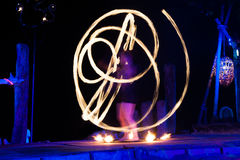 Fire show. On phi-phi island, Thailand Royalty Free Stock Images