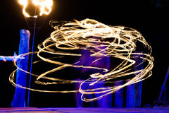 Fire show. On phi-phi island, Thailand Stock Photo