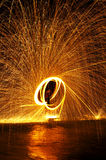 Fire show. In thailand Stock Image