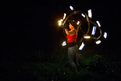 Fire show Tribo Fuego Stock Images
