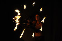 Free Fire Show With Spiral Fire Royalty Free Stock Photos - 32703058