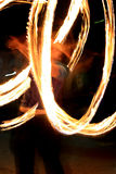 Fire show - zhangler twists torch Royalty Free Stock Image