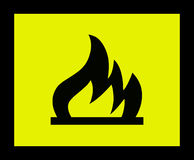 Fire sign 2. Fire danger sign Royalty Free Stock Images