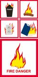 Fire  sign. Vector illustration of fire danger sign Royalty Free Stock Image