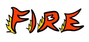 Fire sign. Creative design of fire sign Royalty Free Stock Photo