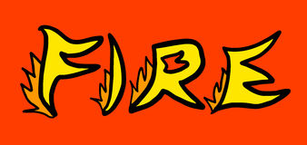 Fire sign Royalty Free Stock Images