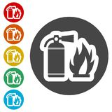 Fire sign , Fire extinguisher icon. Simple  icons set Stock Image