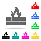 Fire sign icons. Elements of human web colored icons. Premium quality graphic design icon. Simple icon for websites, web design, m. Obile app, info graphics on Stock Photo