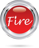 Fire sign. Vector illustration of the fire sign Stock Images