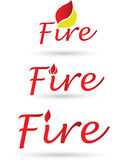 Fire sign. Vector illustration of the fire sign Royalty Free Stock Image