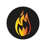 Fire. Simple flat fire icon vector Royalty Free Stock Photo