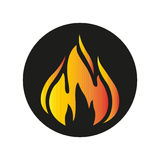 Fire. Simple flat fire icon vector Royalty Free Stock Image