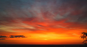 Fire in the skies. And burning clouds Stock Photo