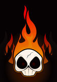 Fire Skull. Drawing 1 Stock Illustration