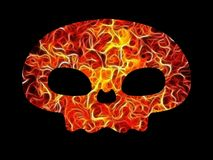 Fire skull. Illustrated skull made of fire Stock Photos