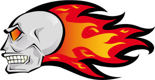 Fire Skull Royalty Free Stock Images