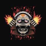 Fire skull speed automotive design royalty free illustration