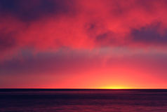 Fire in the Sky. Sunset over Cape Cod Bay Stock Photography