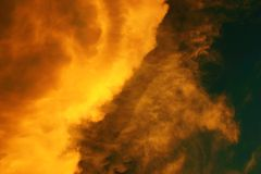 Fire in the sky. Clouds appear to be on fire Royalty Free Stock Images