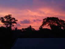 Fire sky Dawn click part 2. No filter added royalty free stock image