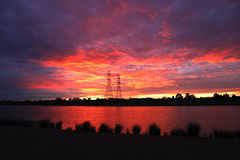 Fire in the sky Royalty Free Stock Photography