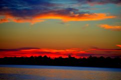 Fire in the sky. Royalty Free Stock Image