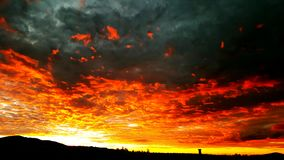 Fire in the sky stock photography