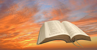 Fire sky sunset bible Stock Images