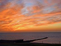 Fire sky sunset Royalty Free Stock Photography