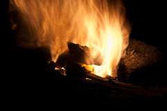 Fire in smithy Stock Photo