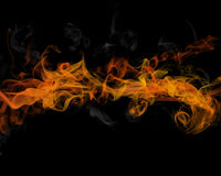 Fire and smoke Royalty Free Stock Photo