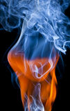 Fire and smoke Stock Images