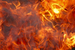 Fire and smoke Stock Photography
