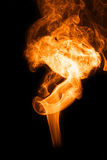 Fire smoke. Smoke abstract photo to background Stock Images