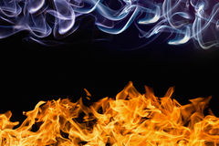 Fire and smoke royalty free stock photos