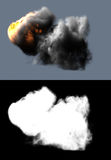 Fire and smoke. (Alpha channel included) digitally generated image Stock Photo