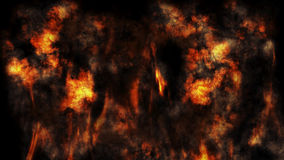 Fire And Smoke Background 3D Rendering. Fire And Smoke Background Halloween Concept 3D Rendering Stock Photo