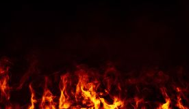 Fire with smoke on isolated background. Texture overlays. Smoke fog misty on isolated black background. Texture overlays royalty free stock images