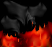 Fire and smoke scene. Illustration fire and smoke scene abstract background Stock Images
