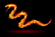 Fire snake. Illustration on black for design Stock Photo