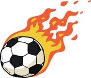 Fire soccer ball Stock Photos