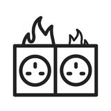 Fire in Socket Stock Photos