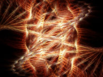 Fire in space. Abstract of a fire fractal in space stock illustration