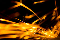 Fire Sparkler. Abstract Sparkler close-up background image Royalty Free Stock Photo