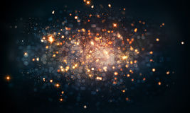 Fire Sparkles Bokeh Background Stock Images