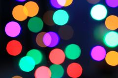 Fire sparkles bokeh background Royalty Free Stock Photography