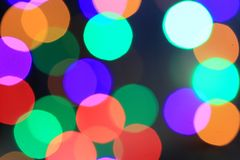 Fire sparkles bokeh background. Christmas gift stock photography