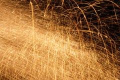 Fire Sparkles Stock Photo