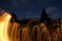 Fire sparkles Royalty Free Stock Photo