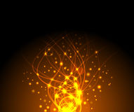 Fire sparkling background. Clip-art Royalty Free Stock Photography